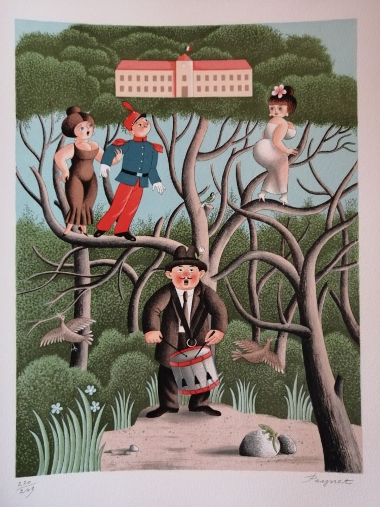 Lithographie Peynet - Nostalgie de Caserne