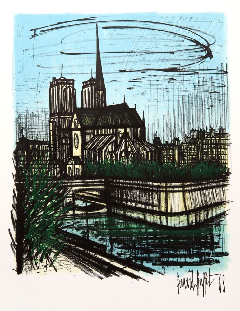 Lithographie Buffet - Notre Dame