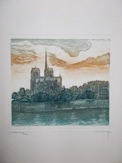 Gravure Ayuso - Notre Dame