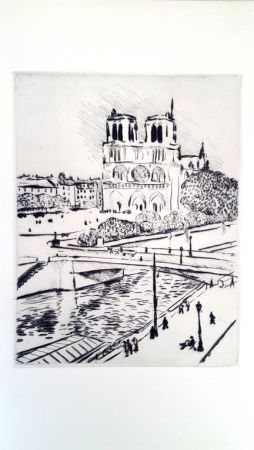 Lithographie Marquet - Notre Dame