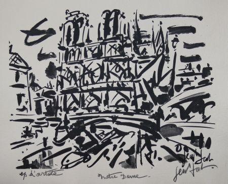 Lithographie Paul  - NOTRE DAME DE PARIS / NOTRE DAME OF PARIS - Lithographie Originale / Original Lithography