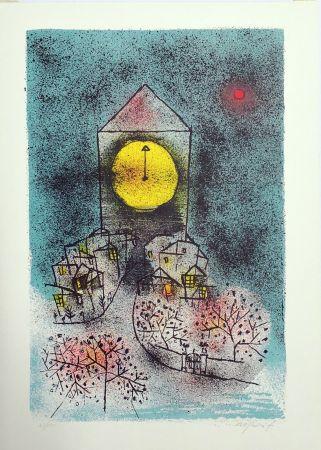 Lithographie Rognoni - Notturno