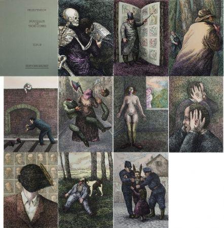 Lithographie Topor - Nouvelles en 3 lignes