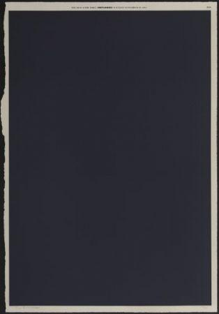 Lithographie Bleckner - November 29th
