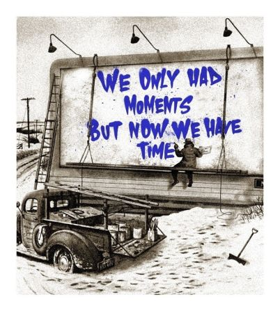 Sérigraphie Mr Brainwash - Now Is The Time