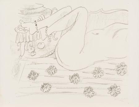 Lithographie Matisse - Nu. Étude d'un mouvement de jambes