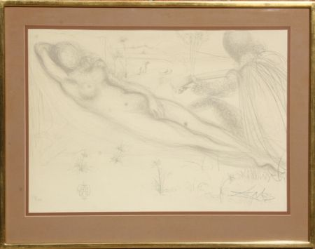 Lithographie Dali - Nu a la Guitarre (Serenade) from the Nudes Suite