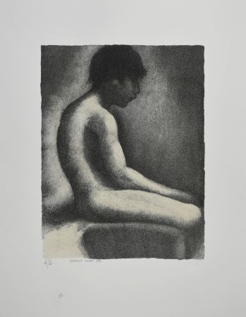 Lithographie Seurat - NU ASSIS / SEATED NUDE, 1883