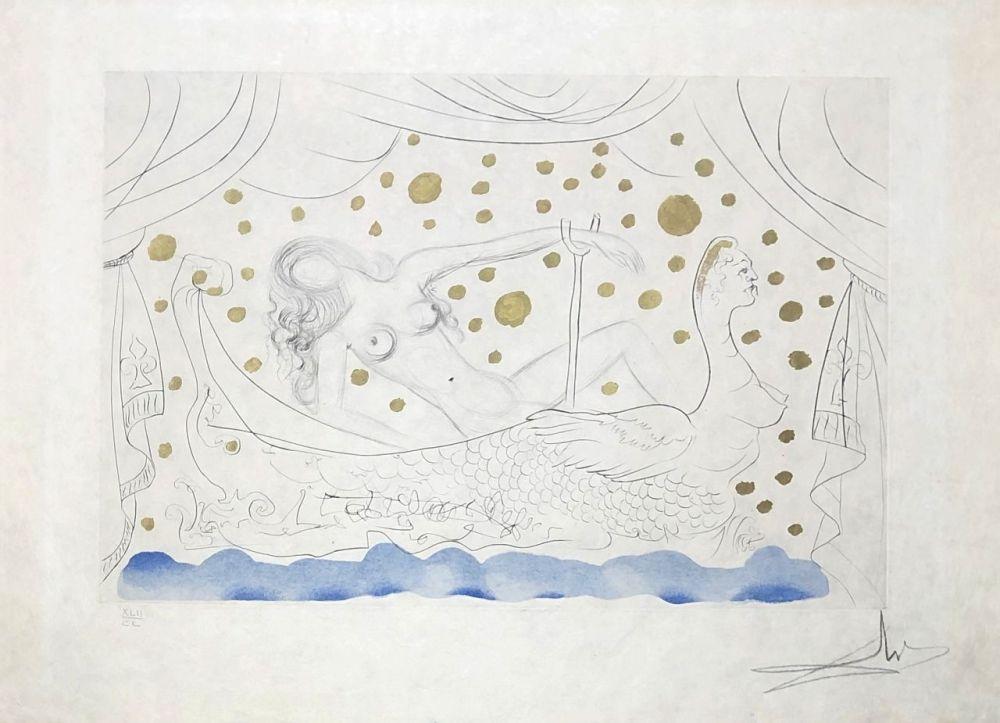 Gravure Dali - Nu au bain