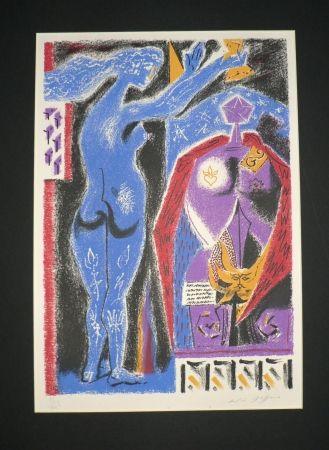 Lithographie Masson - Nu Bleu