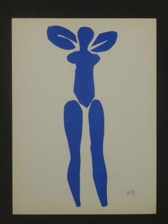 Lithographie Matisse - Nu bleu, 1952