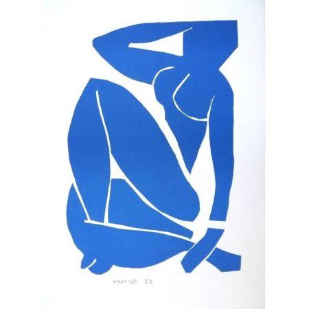 Lithographie Matisse - Nu Bleu assise