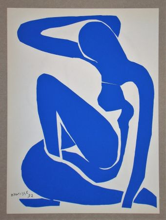 Lithographie Matisse (After) - Nu bleu I.-1952
