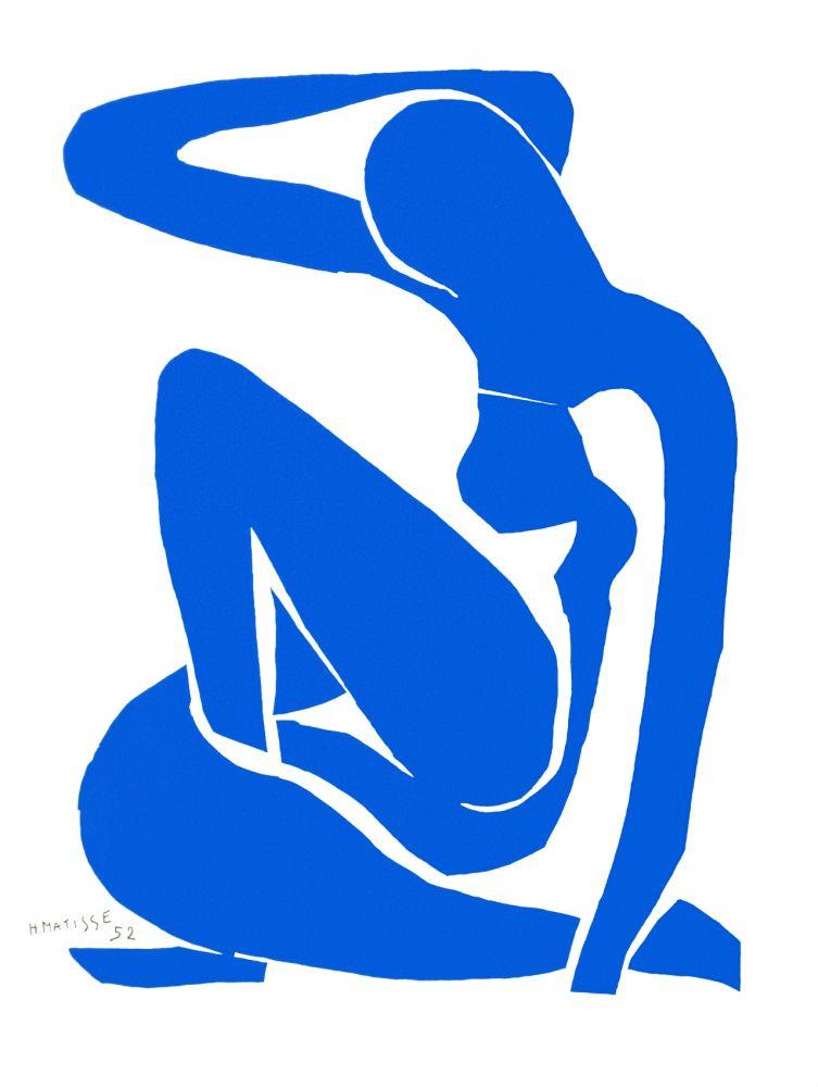Lithographie Matisse - Nu Bleu I (Blue Nude I)