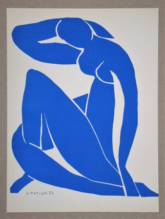 Lithographie Matisse (After) - Nu bleu II.-1952