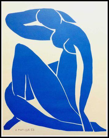 Lithographie Matisse - NU BLEU II