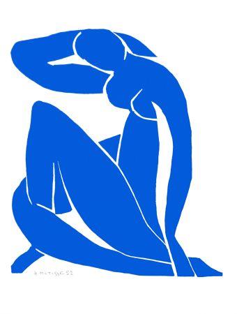 Lithographie Matisse - Nu Bleu II (Blue Nude II)