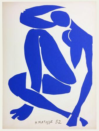Lithographie Matisse - Nu Bleu IV (1958)