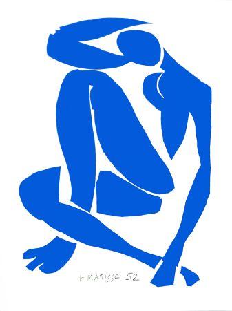 Lithographie Matisse - Nu Bleu IV (Blue Nude IV)