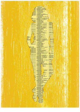 Sérigraphie Friedmann - Nu (Collection Naked)