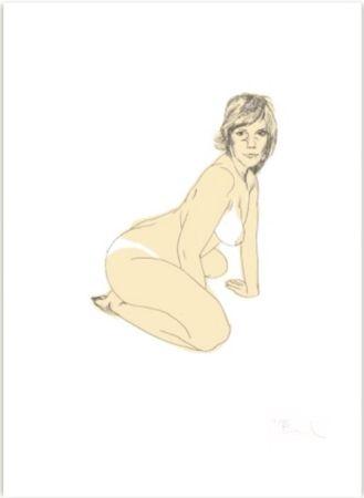 Sérigraphie Barbier - Nu (Collection Naked)