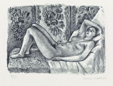 Lithographie Matisse - Nu couché au paravant Louis XIV