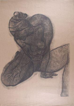 Lithographie Fulla - Nu de Dame assise I