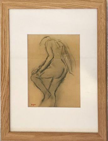 Lithographie Degas - Nu de dos