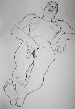 Lithographie Bastow - Nu  Féminin / Female Nude - 6