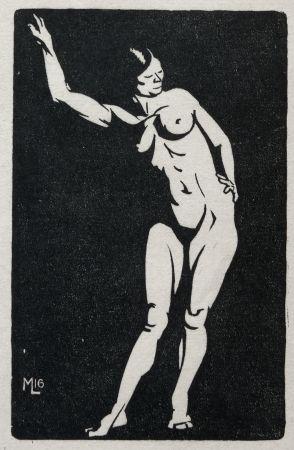 Gravure Sur Bois Moreau - NU / NUDE - 1913