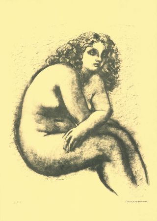 Lithographie Messina - Nude