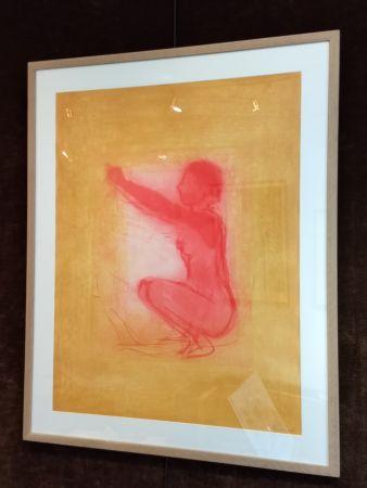 Lithographie Garache - Nude figure