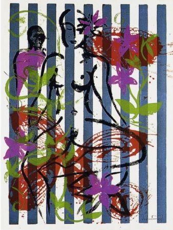 Sérigraphie Szczesny - Nude in Jericho Garden