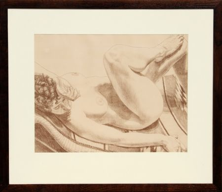 Lithographie Pearlstein - Nude on Chair