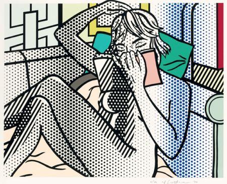 Relief Lichtenstein - Nude Reading