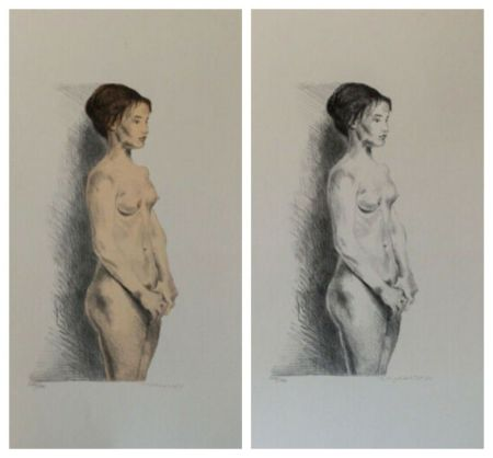 Lithographie Soyer - Nude Woman Portfolio