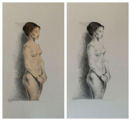 Lithographie Soyer - Nude Woman Portfolio