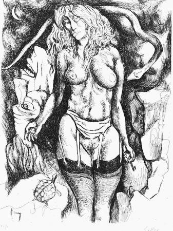 Eau-Forte Guttuso - Nudo