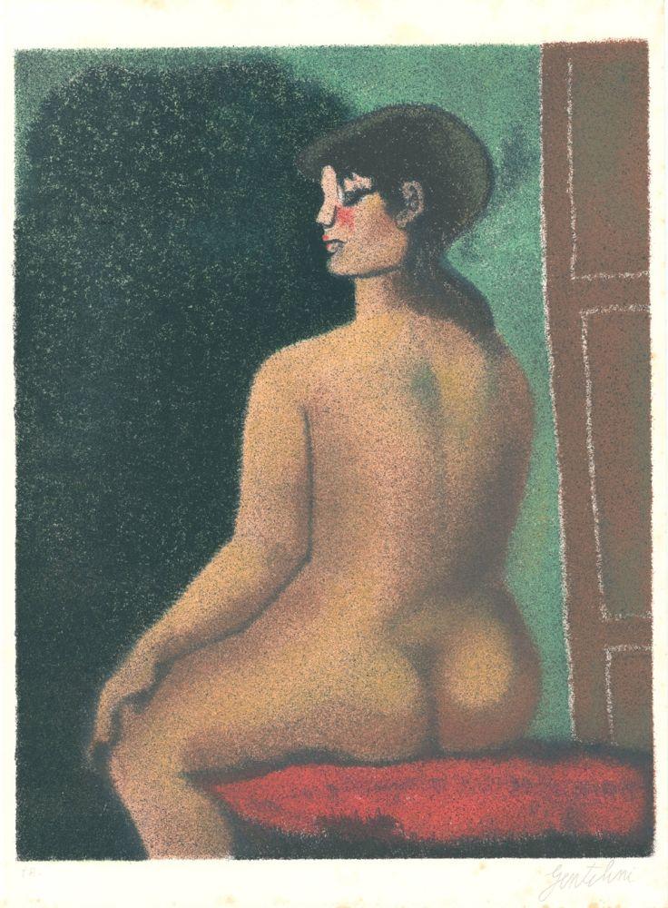 Lithographie Gentilini - Nudo di Luisa