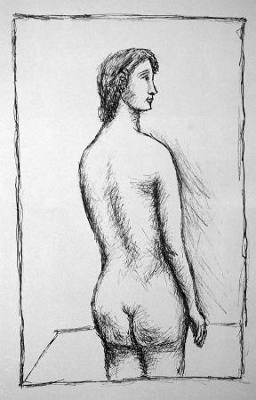 Lithographie Carra - Nudo di schiena