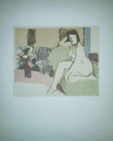 Lithographie Salvadori - Nudo sul divano