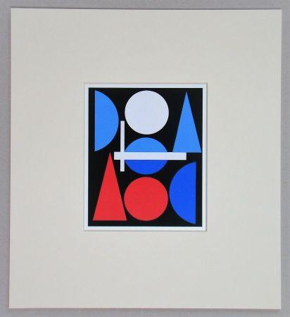 Sérigraphie Herbin - Nue - 1960
