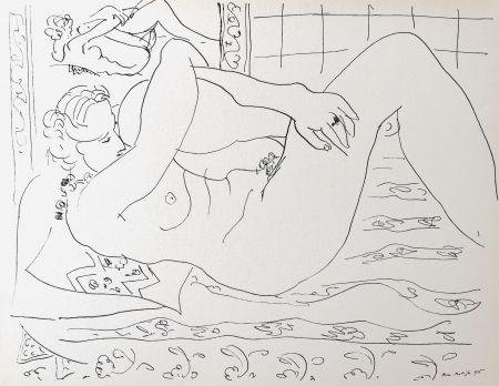 Lithographie Matisse - Nue allongée dans le miroir