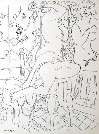 Lithographie Matisse - Nue dans le miroir