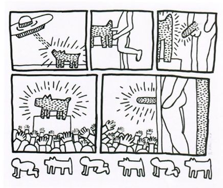 Multiple Haring - Number 13 from