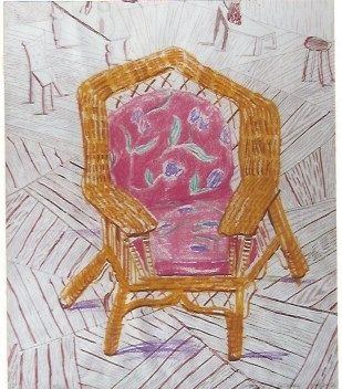 Sérigraphie Hockney - Number one chair