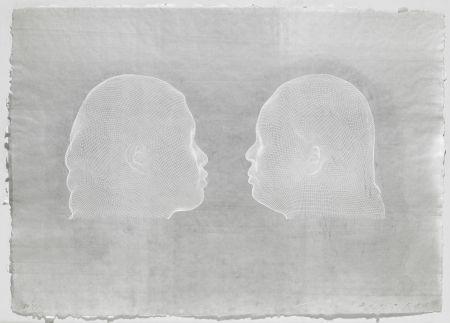 Gravure Plensa - Nuria et Irma (blanc)