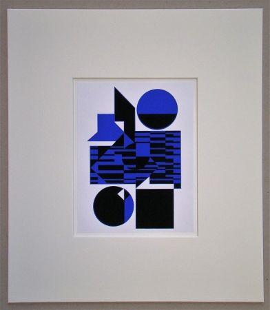 Sérigraphie Vasarely - OB - 1956