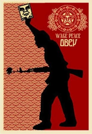 Sérigraphie Fairey - Obey '04, from Retro Series