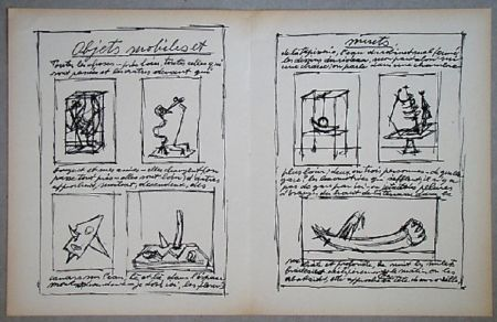 Lithographie Giacometti - Objets mobiles